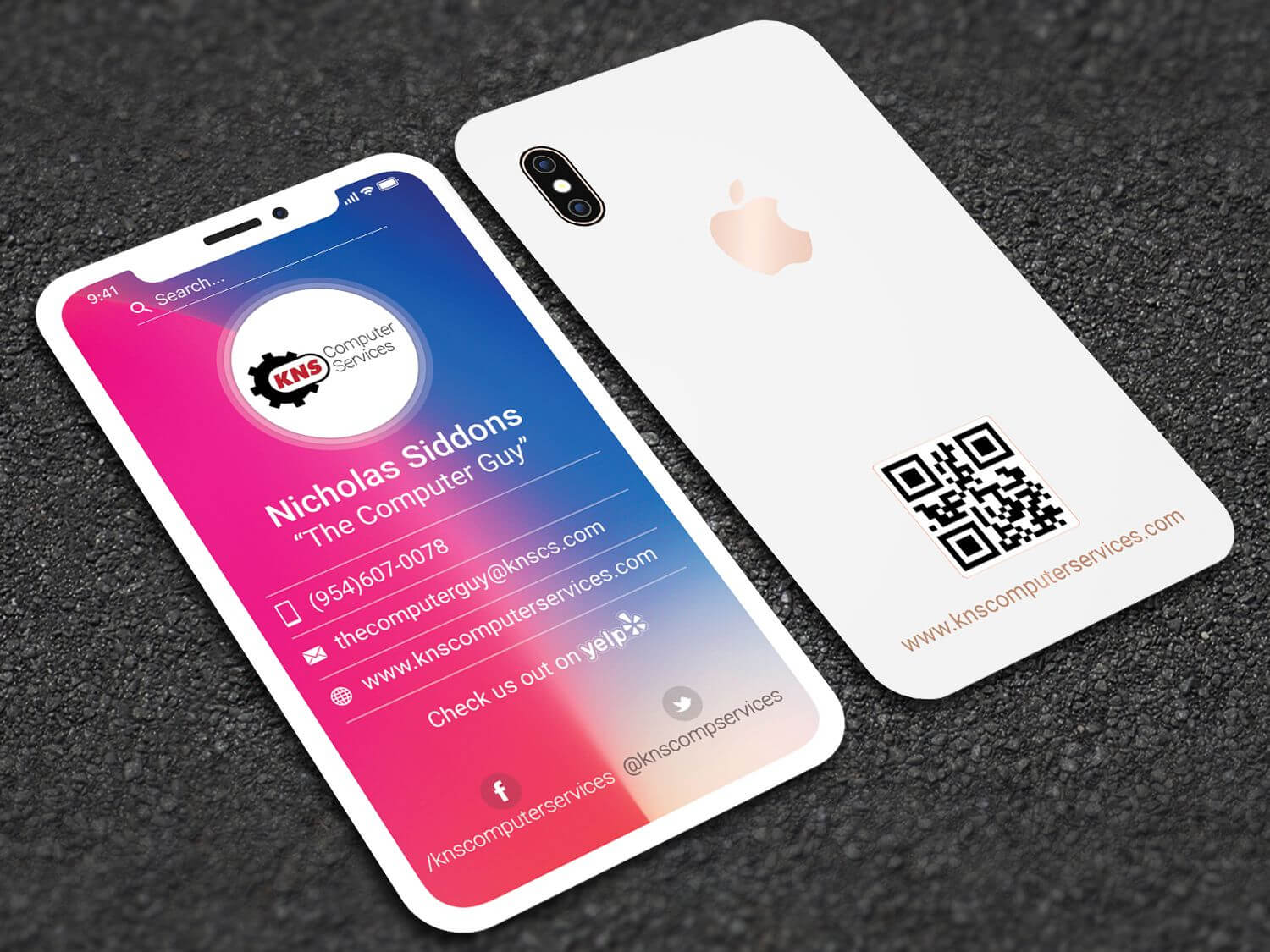 Iphone X Style Business Card | Business Card Design inside Iphone Business Card Template