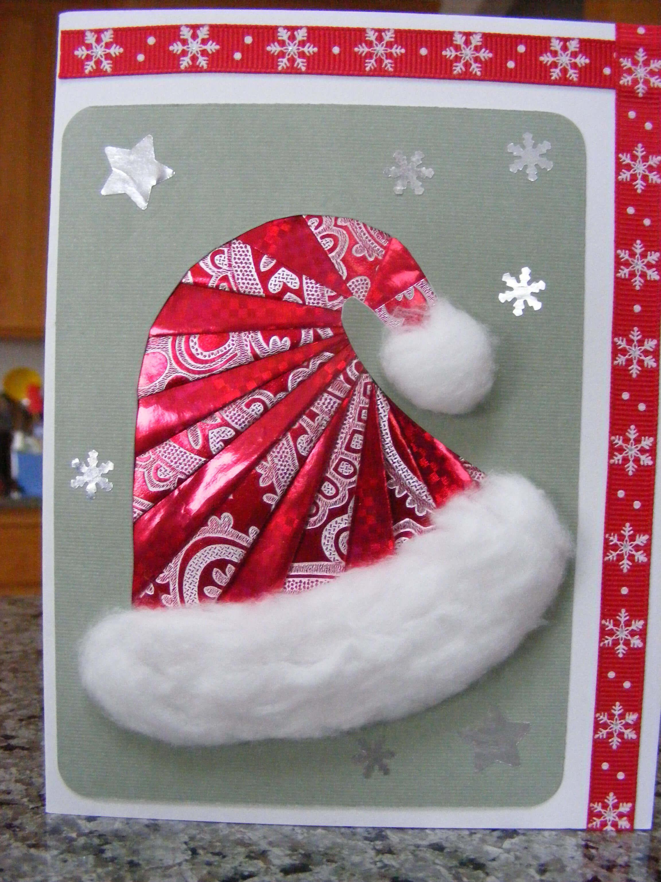 Iris Folded Santa Hat 인터넷카지노게임방법◁Polo416 regarding Iris Folding Christmas Cards Templates