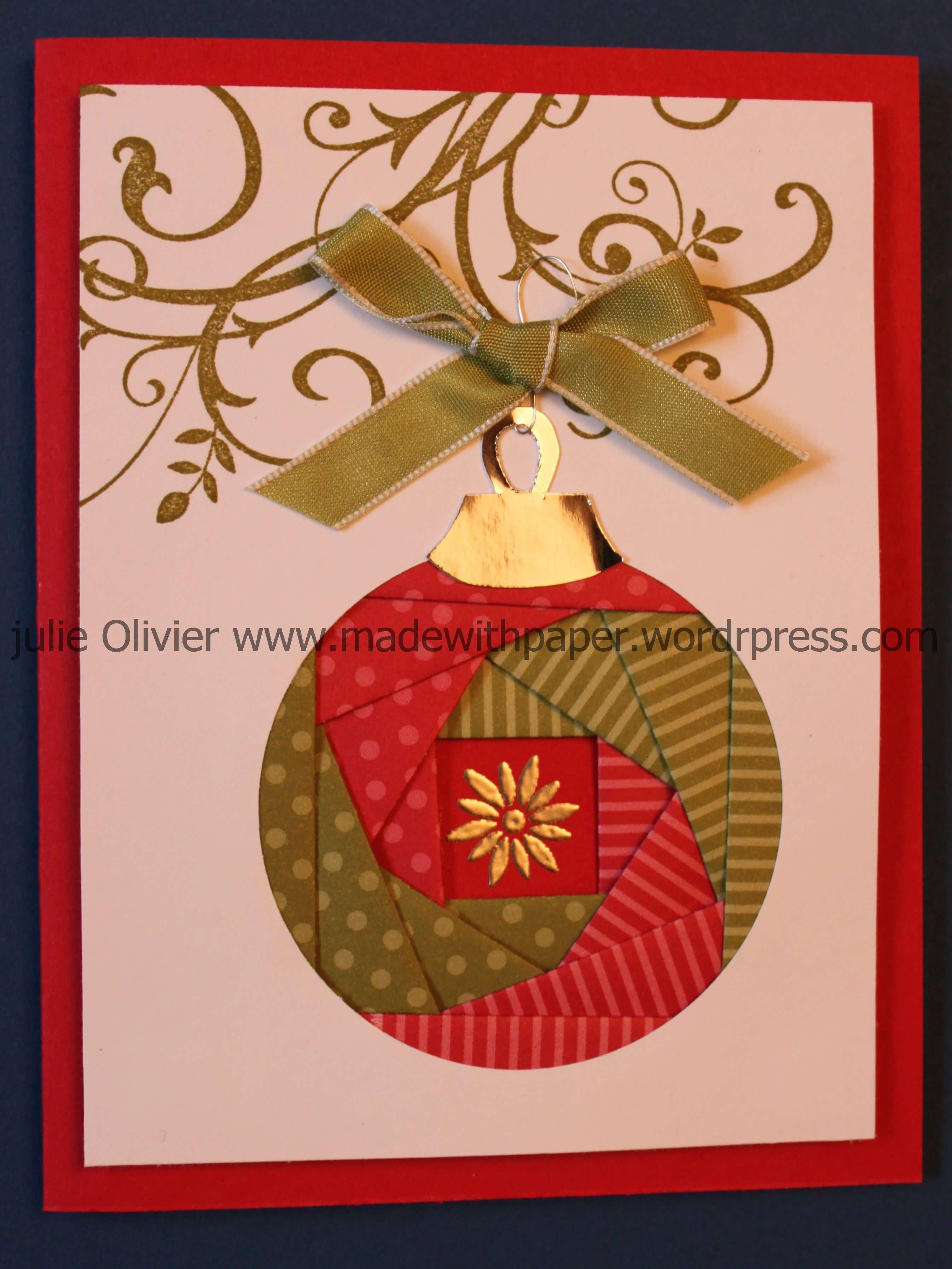 Iris Folding: Christmas Ornament | Cards - Iris Folding In Iris Folding Christmas Cards Templates