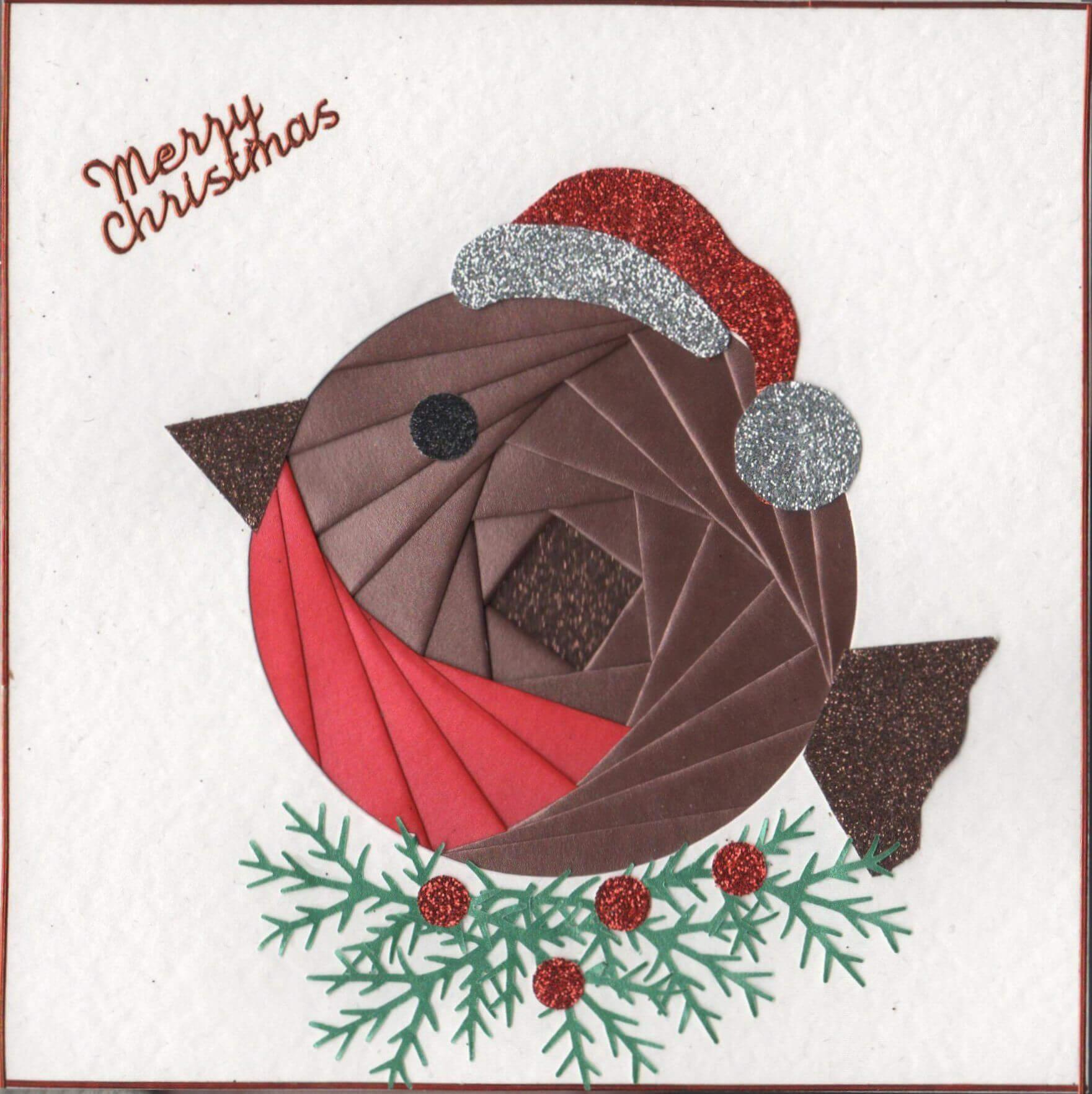 Iris Folding : Christmas Robin | Cards - Iris Folding | Iris in Iris Folding Christmas Cards Templates