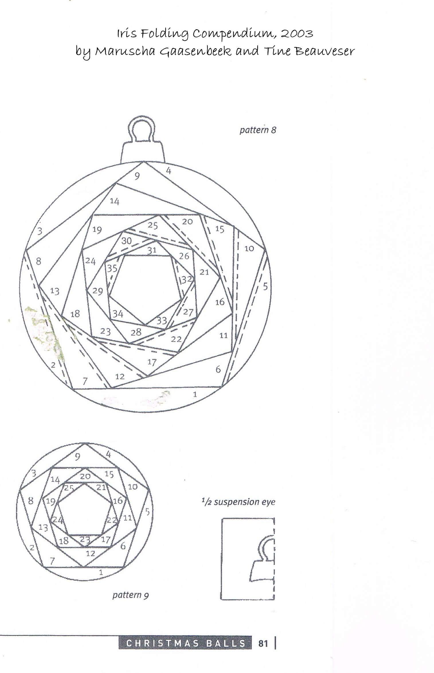 Iris Folding Patterns Free Printables |  Made Using A Within Iris Folding Christmas Cards Templates