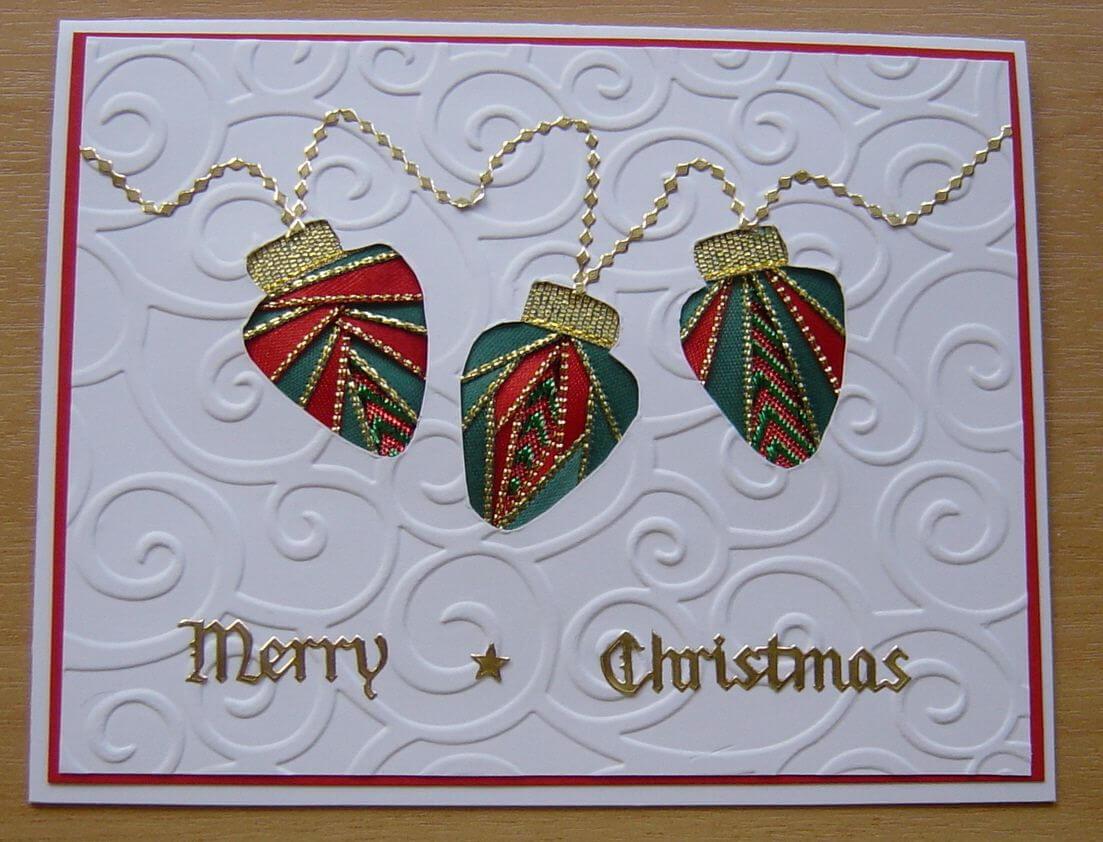 Iris Folding - Xmas Lights | Cre8Tive Iris Folding & More within Iris Folding Christmas Cards Templates