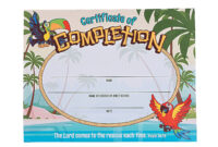 Island Vbs Certificates Of Completion | Stuff I Designed For inside Free Vbs Certificate Templates