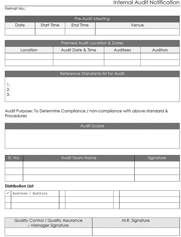 Iso Internal Audit Report Template | Nternal Audit Reporting regarding Iso 9001 Internal Audit Report Template