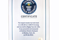 It's Official! | Bigjigs Toys Uk Blog pertaining to Guinness World Record Certificate Template