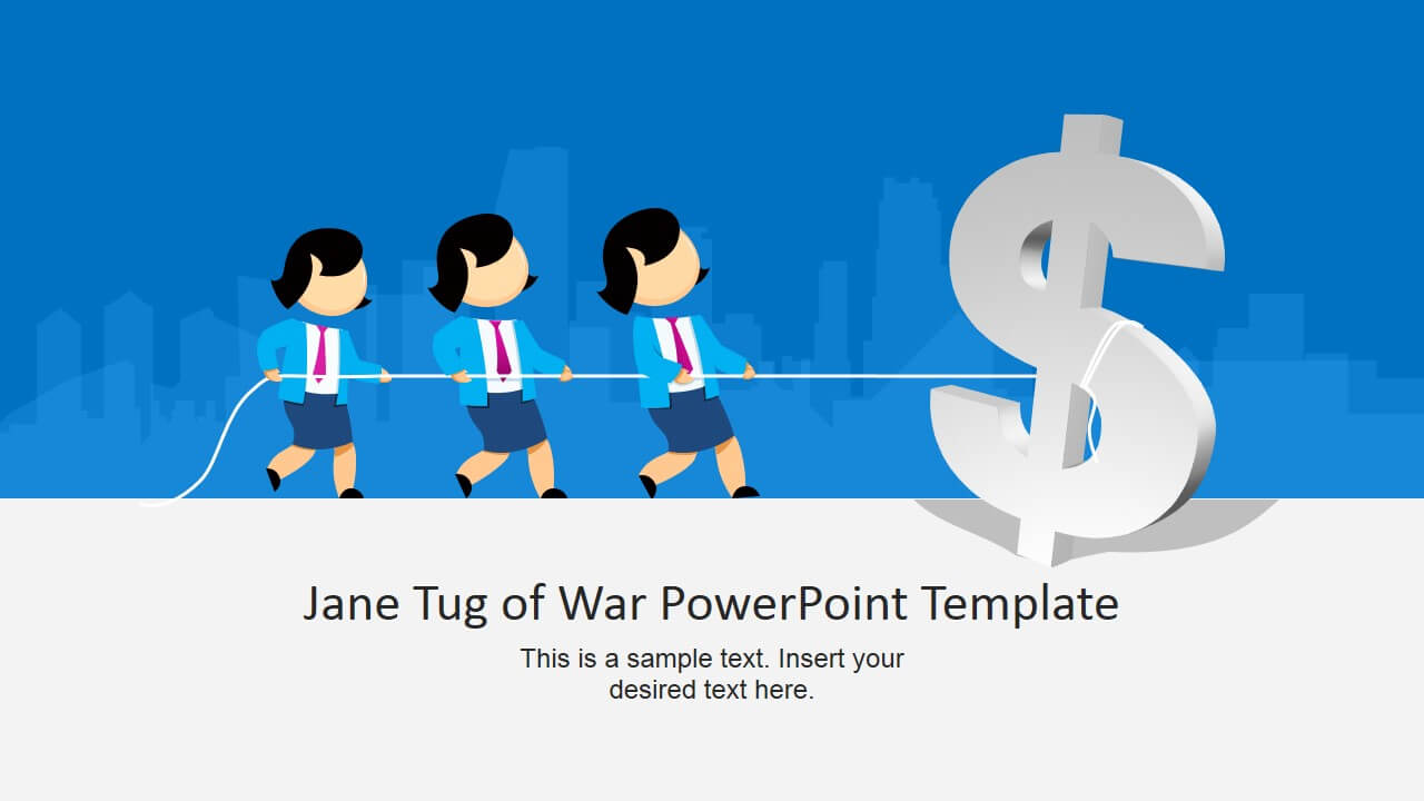 Jane Tug Of War Powerpoint Template with Powerpoint Templates War