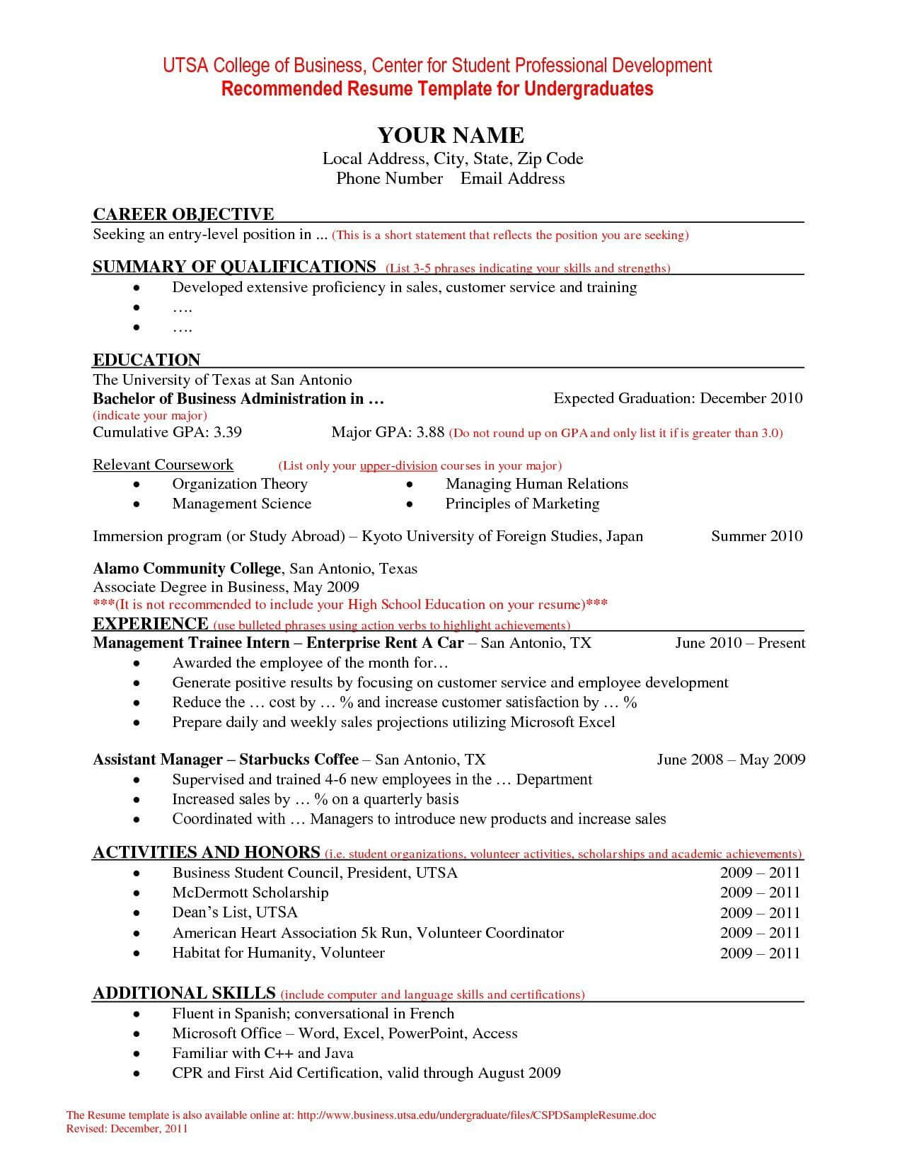 Jedegal | 3 Resume Format | Student Resume Template, College Intended For College Student Resume Template Microsoft Word