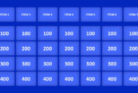 Jeopardy Game Powerpoint Templates regarding Quiz Show Template Powerpoint