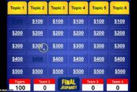 Jeopardy Powerpoint Template regarding Jeopardy Powerpoint Template With Sound