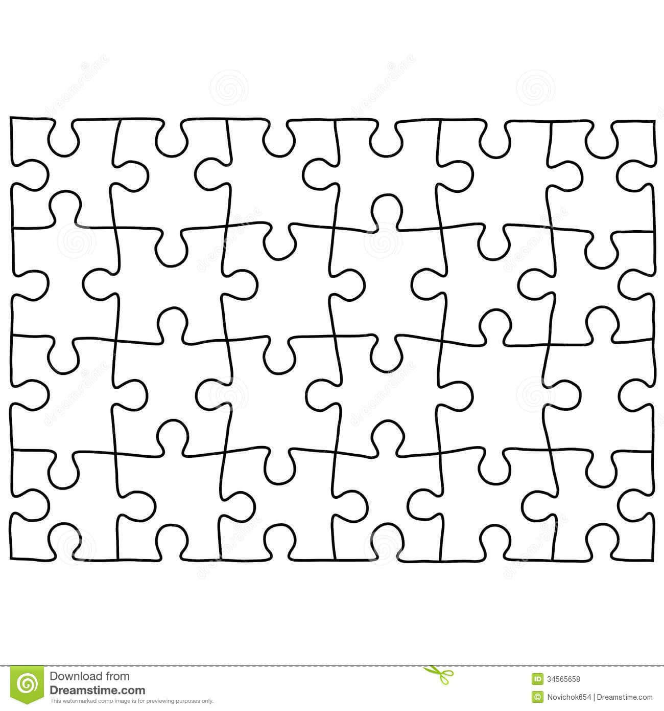 Jigsaw Puzzle Design Template | Free Puzzle Templates In regarding Jigsaw Puzzle Template For Word
