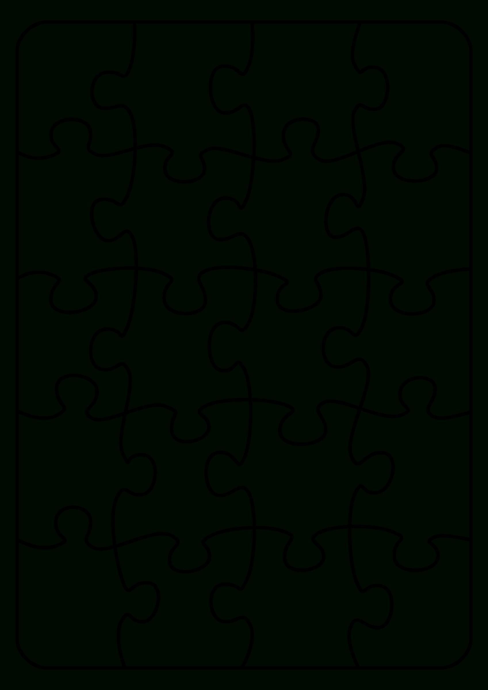 Jigsaw Puzzle Template. Endless Possibilities! Use With inside Jigsaw Puzzle Template For Word