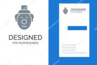 Joker Clown Circus Grey Logo Design Business Card Template in Joker Card Template