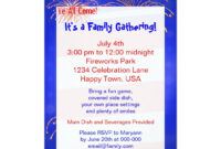 July 4Th Family Reunion Invitation | Zazzle | Family within Reunion Invitation Card Templates