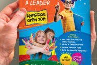 Junior School Admission Flyer Template | School Admissions With Regard To Play School Brochure Templates