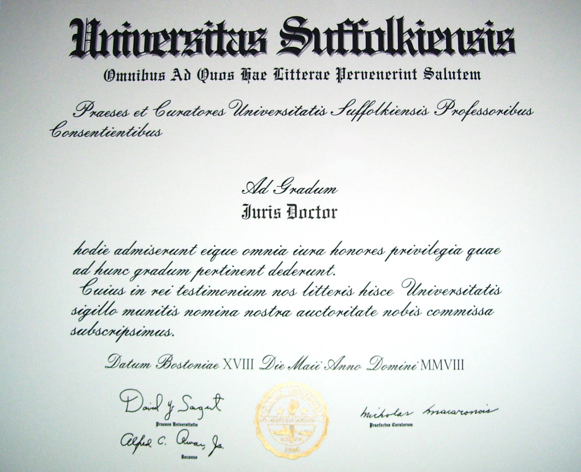 Juris Doctor - Wikipedia throughout Doctorate Certificate Template