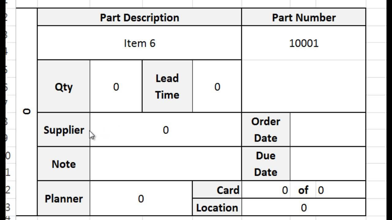 Kanban Card Template – Tutorial, Video, And Download within Kanban Card Template