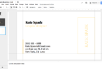 Kate Spade Business Card Template For Google Docs – Stand throughout Business Card Template For Google Docs