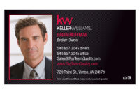 Keller Williams Halftone Business Card – Short Office Name intended for Keller Williams Business Card Templates