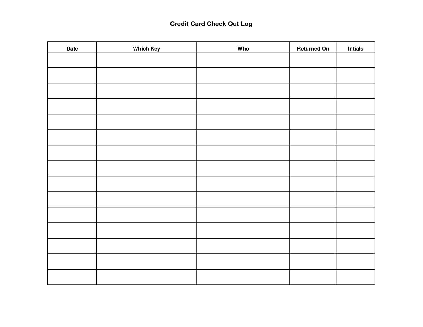 Key Sign Out Sheet Template | Scope Of Work Template regarding Check Out Report Template