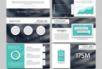 Keynote Style Business Presentation Vector Template with Keynote Brochure Template