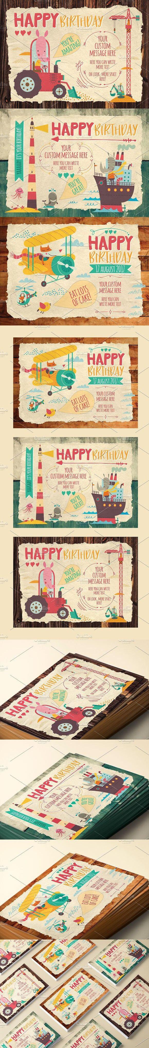 Kids Birthday Cards #children | Best Card Templates | Kids intended for Birthday Card Collage Template