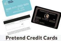 Kids Credit Card – Pretend Play – Imaginary Credit Card throughout Credit Card Template For Kids