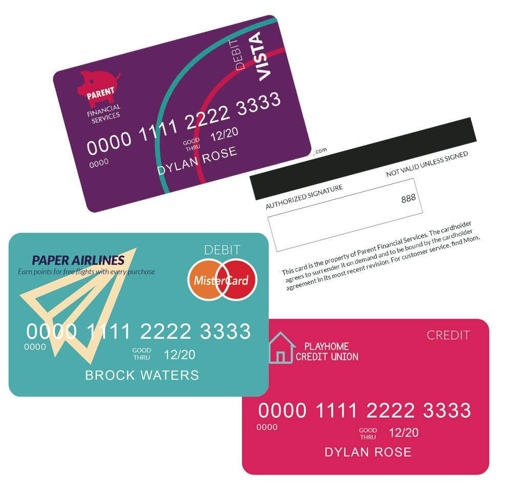 Kids Credit Cards | Event Planning | Kids Cards, Pretend throughout Credit Card Template For Kids