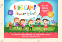 Kids Summer Camp Vector & Photo (Free Trial) | Bigstock regarding Summer Camp Brochure Template Free Download