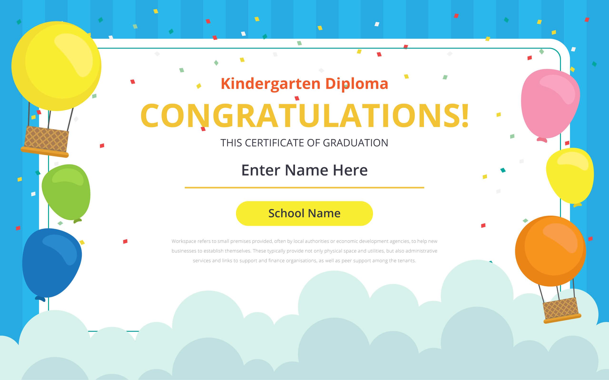 Kindergarten Certificate Free Vector Art - (21 Free Downloads) in Free School Certificate Templates
