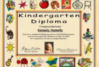 Kindergarten Graduation Certificate | Of 1 Certificate Pre in Hayes Certificate Templates