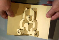 Kirigami Bear Pop Up Card intended for Teddy Bear Pop Up Card Template Free