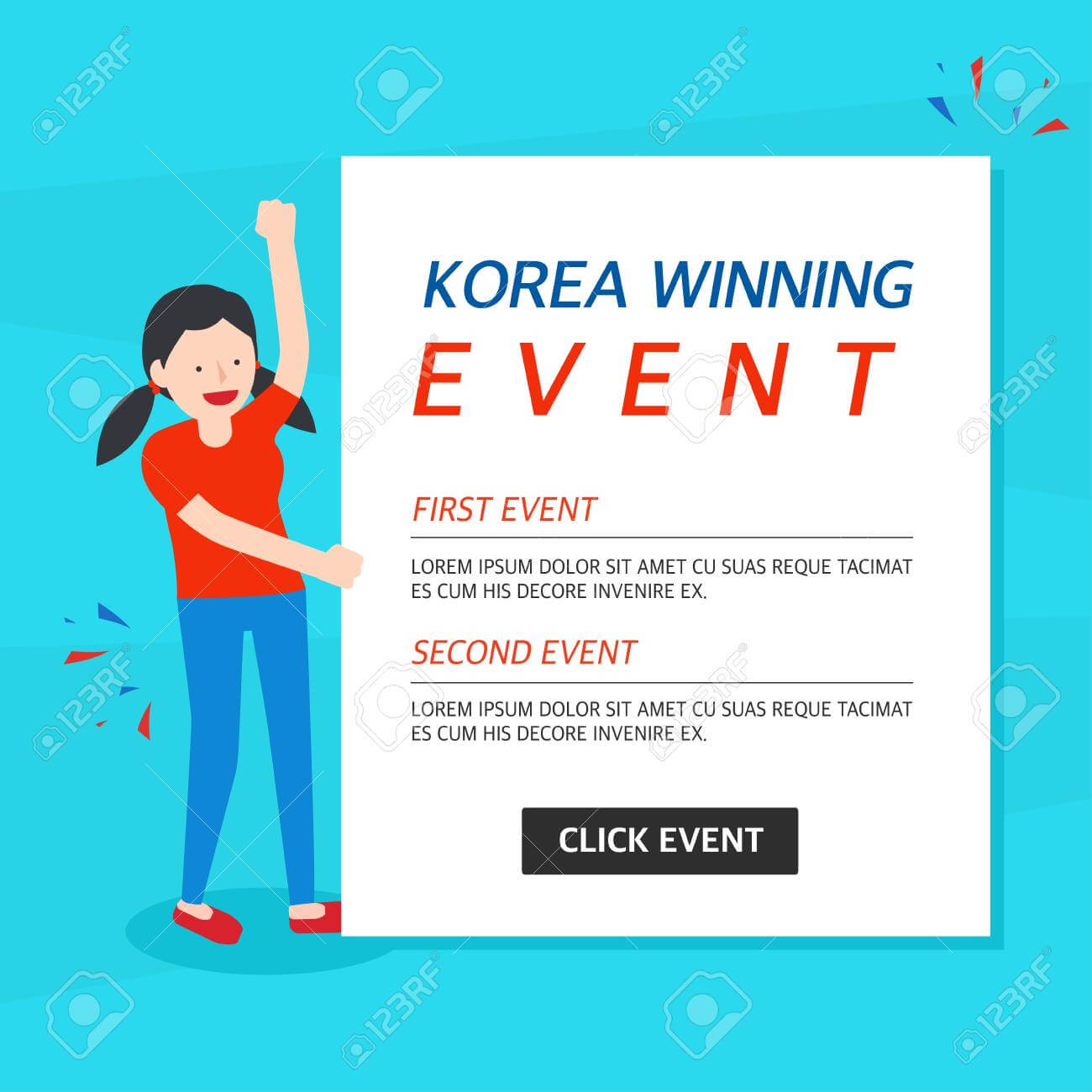 Korea Winning Event Banner Template with regard to Event Banner Template