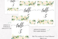Kraft Table Numbers Template, F6 in Table Number Cards Template