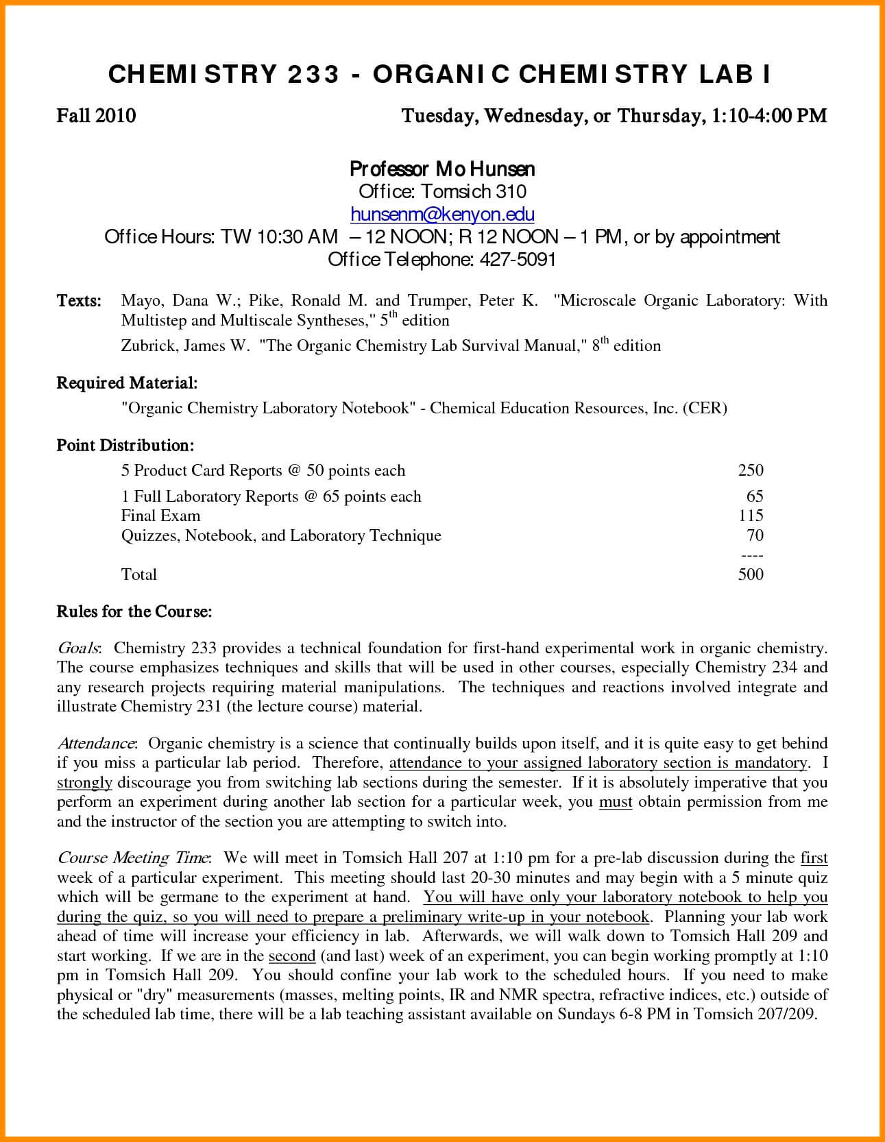 Lab Report Chemistry Filename – Bushveld Lab for Chemistry Lab Report Template