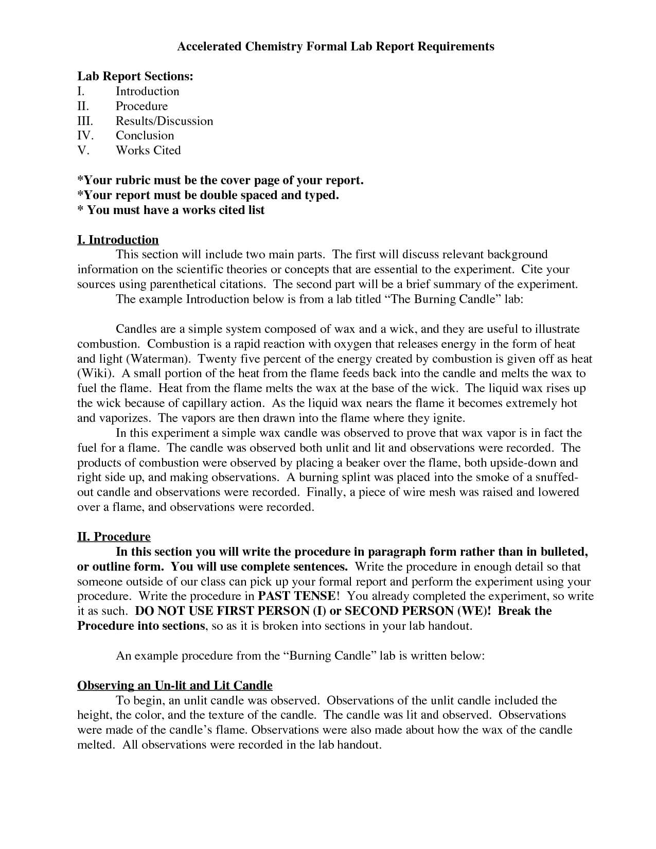 Lab Report Chemistry Ib – Bushveld Lab with Ib Lab Report Template