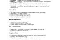 Lab Report Format Doc   Environmental Science Lessons   Lab within Science Lab Report Template