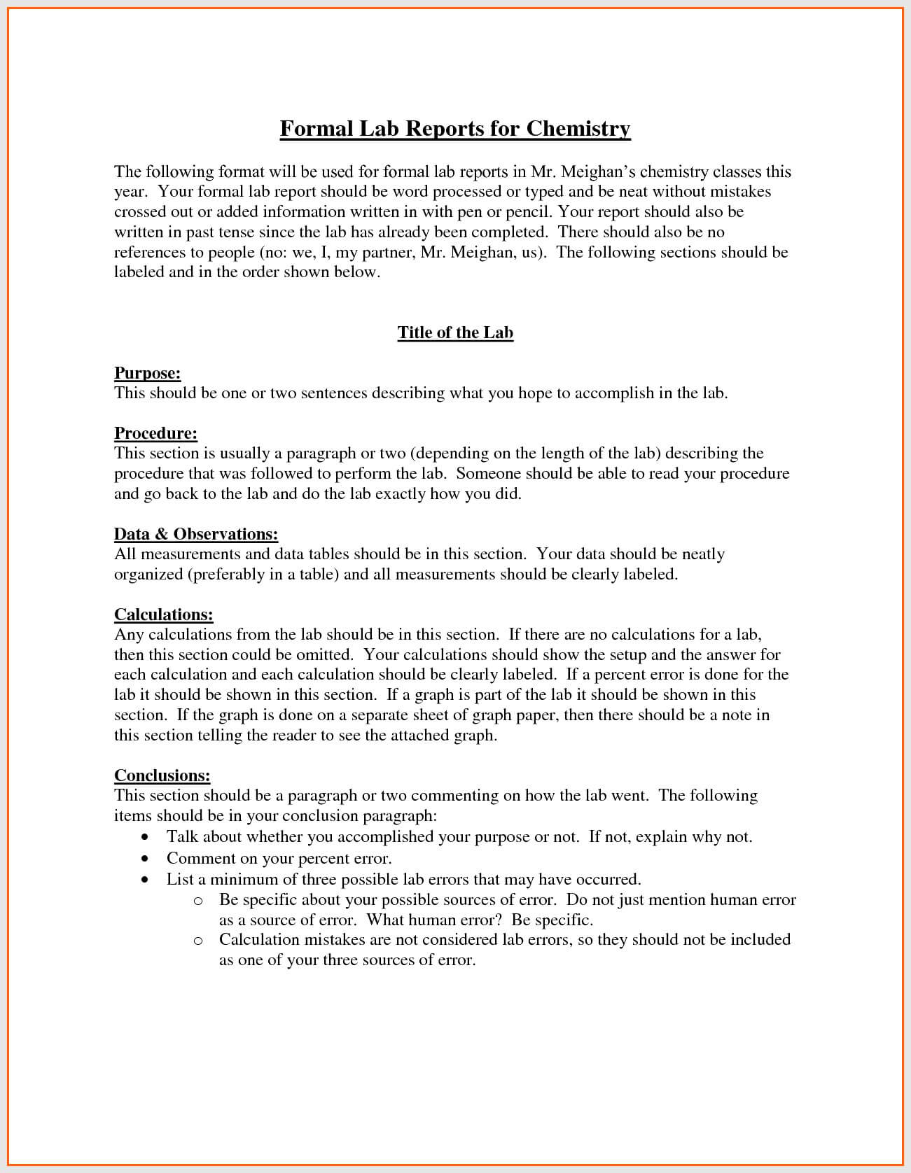 Lab Report Format Engineering – Bushveld Lab throughout Engineering Lab Report Template