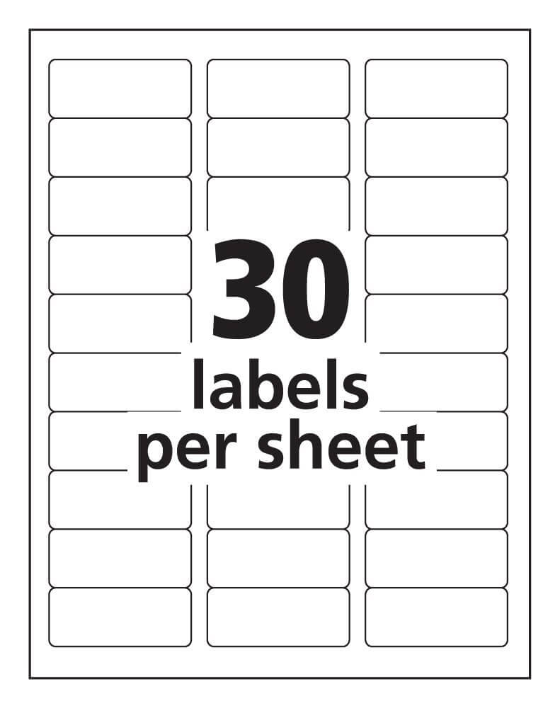 Label Templates 30 Per Sheet - Hizir.kaptanband.co With In Label Template 21 Per Sheet Word