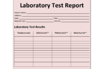 Laboratory Test Report Template within Weekly Test Report Template