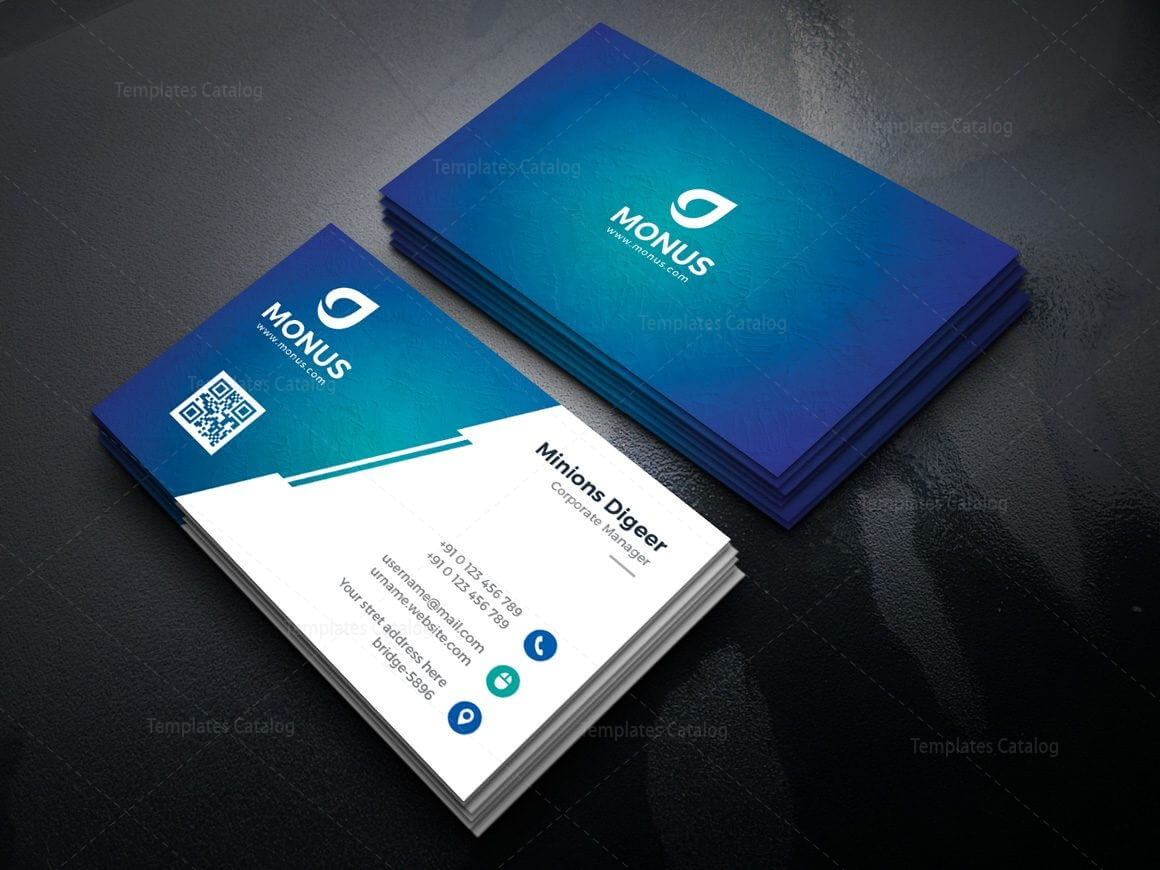 Lagoon Professional Corporate Business Card Template 000946 within Professional Name Card Template