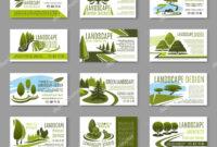 Landscape Design Business Cards | Landscape Design Studio inside Gardening Business Cards Templates
