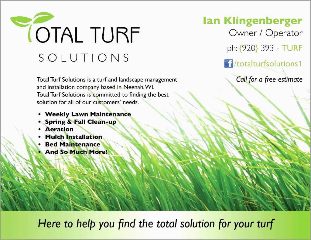Landscaping Business Card Ideas Lawn Care Templates Free intended for Lawn Care Business Cards Templates Free