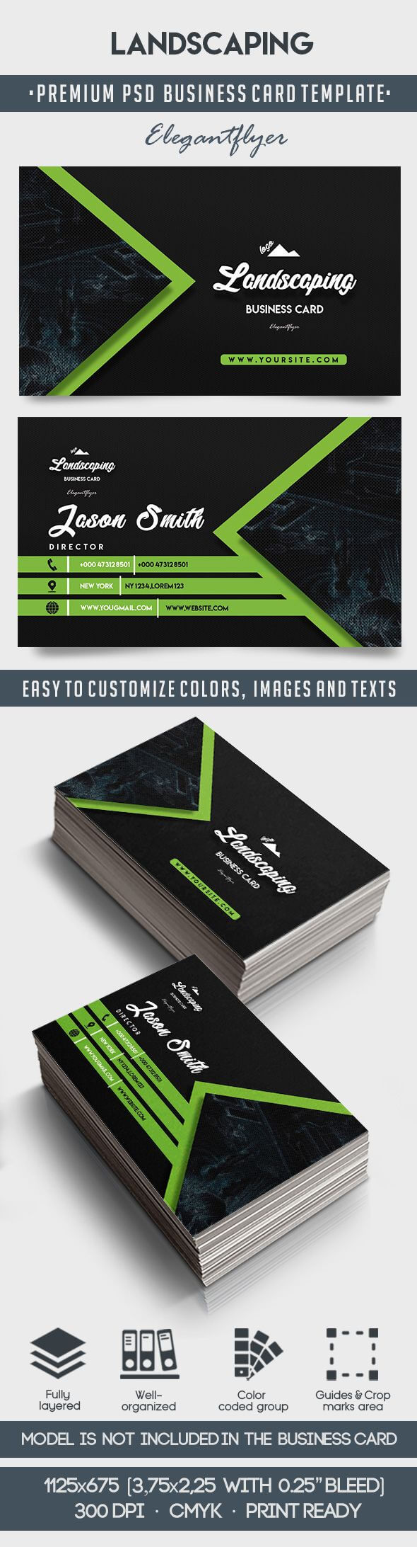 Landscaping – Business Card Templates Psd With Regard To Landscaping Business Card Template