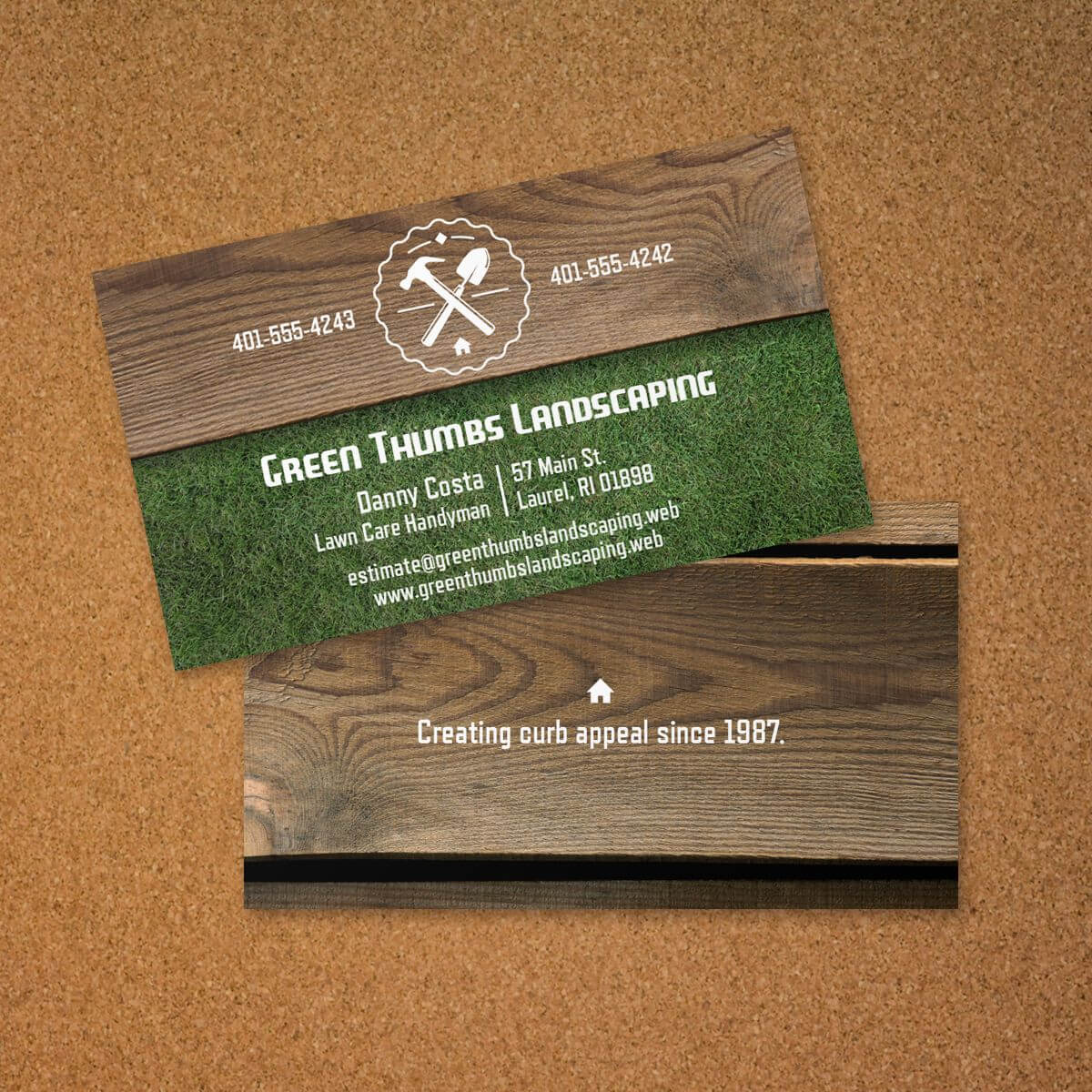 Landscaping Business Card | Vistaprint | Avery Business for Lawn Care Business Cards Templates Free