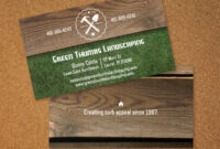 Landscaping Business Card | Vistaprint | Avery Business within Landscaping Business Card Template