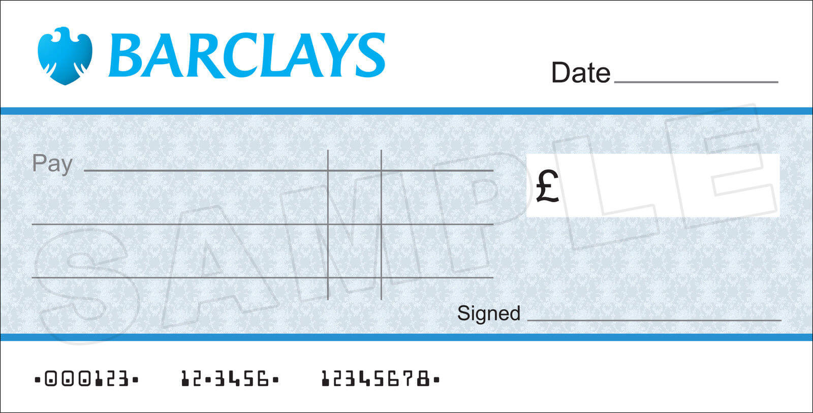 Large Blank Barclays Bank Cheque For Charity / Presentation In Large Blank Cheque Template
