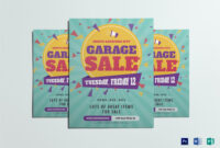Large Garage Sale Flyer Template throughout Garage Sale Flyer Template Word