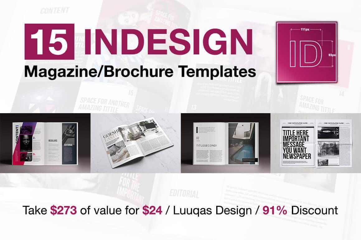 Last Chance: 15 Indesign Magazine & Brochure Templates inside Fancy Brochure Templates