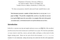 Latex Templates » Academic Journals For Academic Journal Template Word