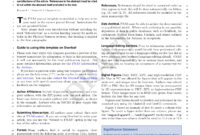 Latex Templates » Academic Journals Intended For Academic Journal Template Word
